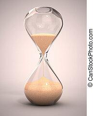 Sandglass, arena, reloj de arena, avisador