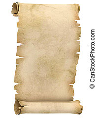 parchment scroll 3d illustration isolated on white...