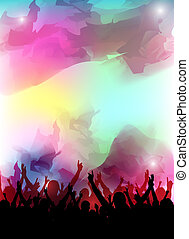 colorful party design - an abstract colorful party...