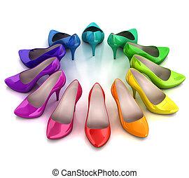 women's shoes   - women's shoes 3d illustration
