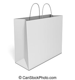 blank shopping bag isolated