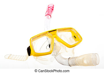 snorkeling mask isolated on white background