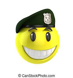 smiley solider 3d illustration