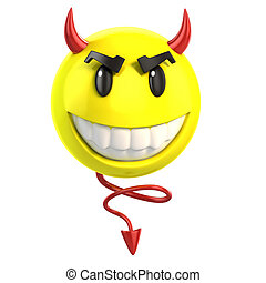 smiley devil3d illustration