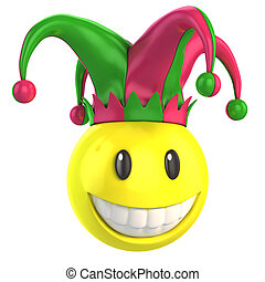 jester smiley 3d illustration