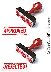stamp approved rejected illustration