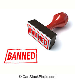 3d stamp banned illustration
