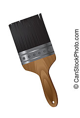 paint brush isolated over white background vector...
