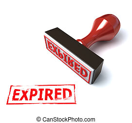 3d stamp expired illustration