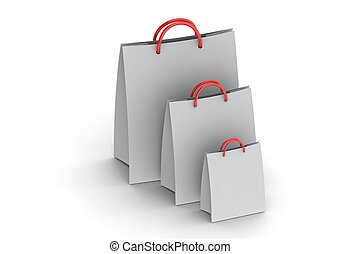 Paper bags - Rendered artwork with white background
