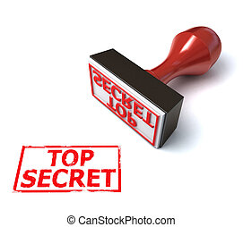 stamp top secret 3d illustration