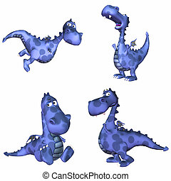 Blue Dragon Pack - 2of3 - Illustration of a pack of four 4...