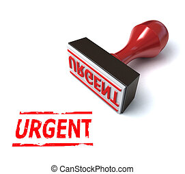 3d stamp urgent  illustration