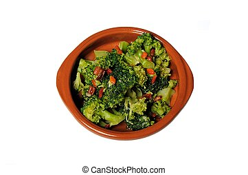 Broccoli with chilli & garlic tapas - Broccoli with chilli...