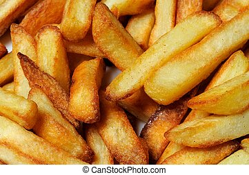 Crispy french fries. - Freshly cooked chips (French fries),...