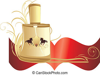 Perfume for men. Banner - Perfume for men with decorative...