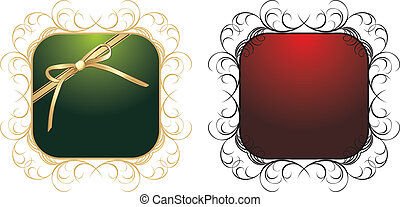 Two patterns for decorative frames