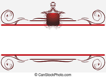 Decorative borders for card. Title. Vector illustration