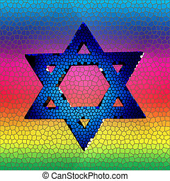 Star of David in stained glass - Star of david in stained...