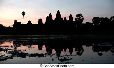 Sunrise at Angkor Wat - Timelapse of sunrise at Angkor Wat...