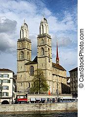 Grossmunster Zurich - Grossmunster Church in Zurich...