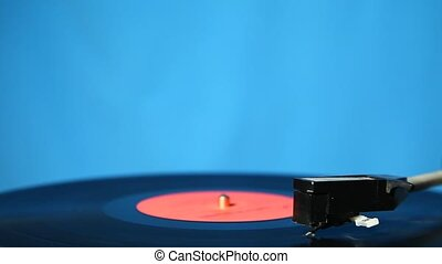 Old vinyl player - Vinyl record played on turntable...