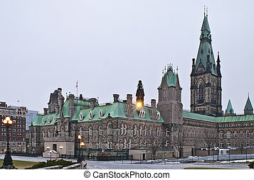 Winter West Block - The canadian Parliament West Block...