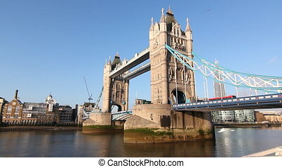 Tower Bridge - Tower Bridge on the river Thames Sunny...