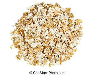 Oatmeal - Close-up of oatmeal isolated on white background