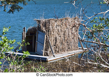 Duck Blind 0007 - A duck blind on the shore of the bay