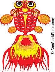 Goldfish - Designed colourful goldfish