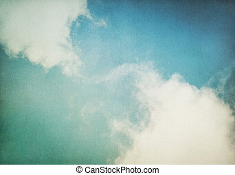 Vintage Fog and Clouds - Fog and clouds on a vintage,...