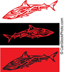 Tribal arts - Sharks in tribal arts