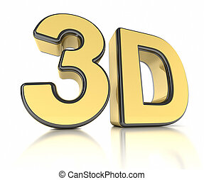 3D icon over white background - 3D icon as a metal object...