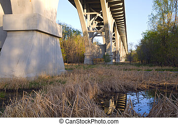Beneath Mendota Bridge at Fort Snelling State Park -...