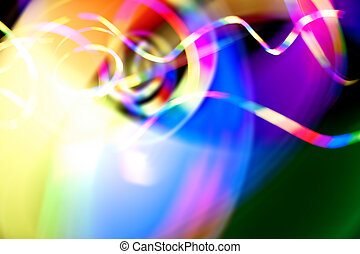Funky Blurred Light Trails Abstract