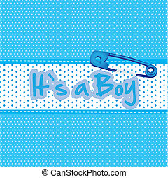 Background baby shower, it's a boy, vector illustration