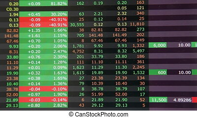 Stock market good day in green