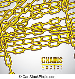 gold chains superimposed