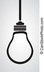 燈泡, 黑色半面畫像