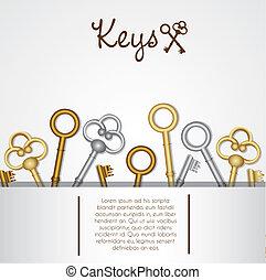 pattern of old keys