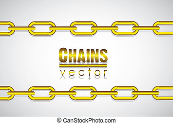 Gold link chain,