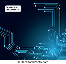 blue circuit board - circuit board in blue tones with...
