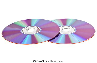 Compact disks, isolated on a white background