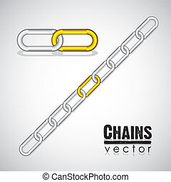 gold and silver link chain