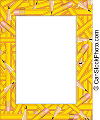 Pencils Frame - Pencil Frame, colorful border of sharpened...