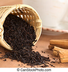 Black Tea in Infuser with Cinnamon