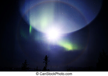 Etherial science fiction sky - Strange phenomenon in in the...