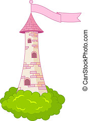 Romantic Tower - Illustration of Medieval Romantic Tower