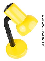 Desk lamp - Yellow desk lamp isolated on a white background